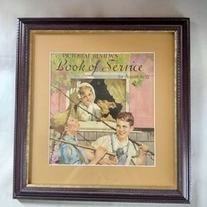 VINTAGE WOOD FRAMED PICTURE